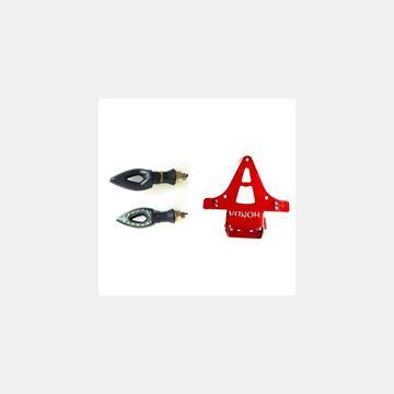Katlanır Plakalık Sinyalli Honda Kırmızı Resimi