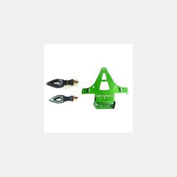 Katlanır Plakalık Sinyalli Kawasaki Yeşil Resimi