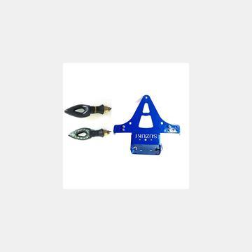 Katlanır Plakalık Sinyalli Suzuki Mavi Resimi