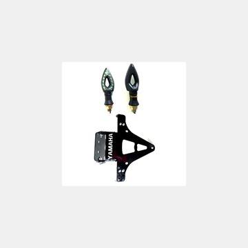 Katlanır Plakalık Sinyalli Yamaha Siyah Resimi