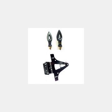 Katlanır Plakalık Sinyalli Kawasaki Siyah Resimi