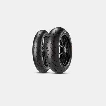Pirelli Diablo Rosso 2 Takım Lastik 110-70x17//140-70x17 Resimi