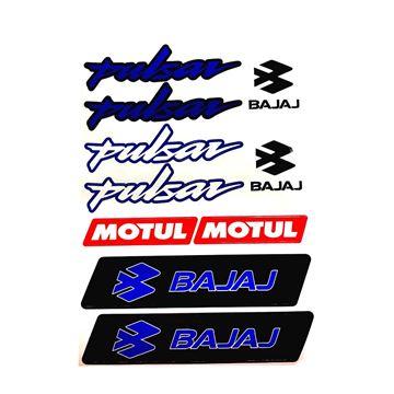 Bajaj Pulsar Sticker (Etiket) Seti Mavi A4 Boyut Resimi