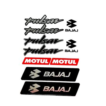 Bajaj Pulsar Sticker (Etiket) Seti Gri A4 Boyut Resimi